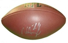 Philadelphia Eagles Nnamdi Asomugha Autographed NFL Wilson Composite Football, Oakland Raiders, Proof Photo by Southwestconnection-Memorabilia. $109.99. This is a Nnamdi Asomugha autographed NFL Wilson composite football. Nnamdi has signed the football in silver paint pen for us. Check out the photo of Nnamdi signing for us. Proof photo is included for free with purchase. Please click on images to enlarge.