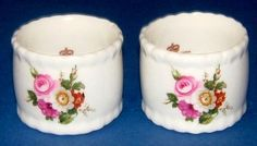 Vintage 1960s White Bone China Napkin Rings by QueensParkVintage, $35.00