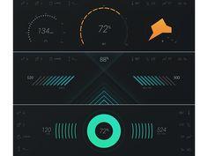 Car Dashboard UI Concept No.2 / Jeremey Fleischer