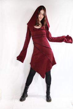Pixie fleece jacket. Winter hoodie jacket. faery jacket. Polar