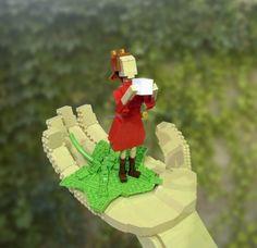 Arrietty LEGO Pal inside LEGO Hand. Nice!