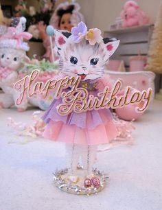 Birthday Kitty Vintage Inspired SuGaR SwEeT by saturdayfinds