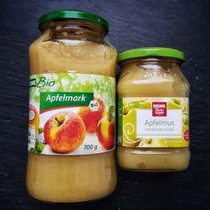 Apfelmark und Apfelmus - Beispiel für Lebensmitteletiketten lesen