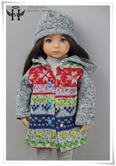 "[Effner] Winter Hooded Coat and Hat | 13"" Little Darling Outfit Clothes by HM  