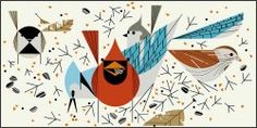 Birdfeeders | Charley Harper | How great of a half-sleeve would this make?