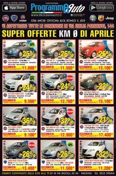 Super Offerte Fiat KM 0 di Aprile  Info: Francesco 3479519042  Programma Auto concessionaria ufficiale Fiat Lancia Alfa Romeo Abarth Veicoli Commerciali Fiat Professional di Piacenza