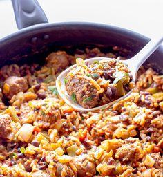 One Pot Wonder Spanish Rice with Chorizo