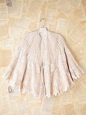 Vintage Crochet Caplet. Lined. Sold by Free People.