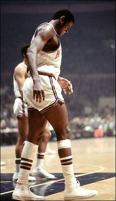 Willis Reed - I remember His inspirational and famous entrance in Game 7.  Oh what a year that was for New York, though, wasn't it. One of the most heroic and unselfish moments I ever saw in sports.