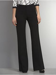 The 7th Avenue City Double Stretch Wide Leg Pant with Silvertone Hardware Detail - Tall