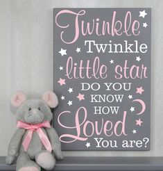 Twinkle Twinkle Little Star Do You Know How Loved You Are - Sign - Baby Shower Gift - Gender Neutral Nursery Decor Nursery Wall Art, Girl Nursery, Nursery Decor, Twinkle Twinkle Little Star, Baby Boy, Baby Girl Gifts, Star Baby Showers, Nursery Neutral, Baby Decor