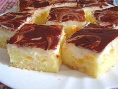 Broskvový moučník Czech Desserts, Czech Recipes, Wonderful Recipe, Sweet Cakes, Nutella, Sweet Recipes, Sweet Tooth, Cheesecake, Deserts