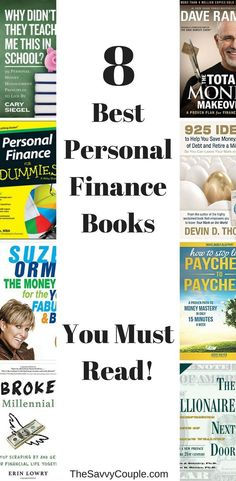 The top 8 personal finance books you need to read to become a money mastermind. Top Books To Read, Books You Should Read, Financial Literacy, Financial Tips, Financial Planning, Money Book, Personal Development Books, Finance Books, Money Saving Mom