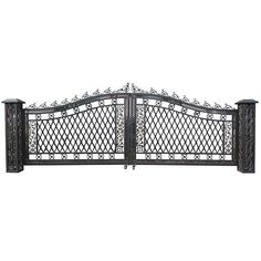 Presenting the Bridgeton Moore Aluminum Wide Driveway Gate, dimensions from outer edge of post to post are wide 11 åÒ deep X tall providing a 220 åÒ ( wide opening. Designed and cast Solar Post Lights, Outdoor Post Lights, Outdoor Ideas, Metal Gates, Wrought Iron Gates, Driveway Gate, Fence Gate, Gate Post, Gate Hinges