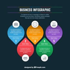 Colored business infographic template Free Vector