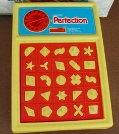 Perfection game - I remember receiving this game at my dad's Christmas work party...and I hated it! Made me so nervous...lol