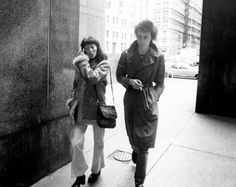 """British punk rocker Sid Vicious and his mother arrive at Manhattan Supreme Court at 100 Centre Street. Vicious pleaded innocent to an indictment charging him with murder and """"depraved indifference to human life"""" in the stabbing death of his girlfriend, Nancy Spungen at the Chelsea Hotel and was released on $50,000 bail."""