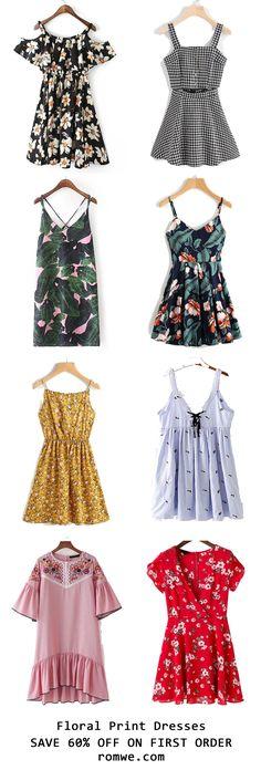 Summer Floral Dresses 2017 - romwe.com