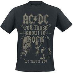 AC/DC - Camiseta We Salute You en negro #regalo #arte #geek #camiseta