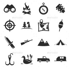 Hunting Icons #icons #vectoricons #flaticons #icondesign #iconset #huntingicons Download - http://graphicriver.net/item/hunting-icons/10860939