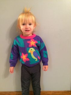 1980s baby girls KAWAII colorblock jungle by VinTaGeOus102607, $16.00