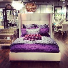 Instagram fan @newlywed143 snapped this gorgeous photo of our Nina Bed & Sophia Bedding in one of our stores.