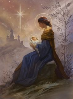 Virgin Mary Painting, Virgin Mary Art, Blessed Mother Mary, Blessed Virgin Mary, Jesus And Mary Pictures, Christian Images, Queen Of Heaven, Mama Mary, Holy Mary