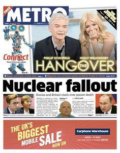 Metro Phillip Schofield, Fallout, Bbc, Britain, Crime, Death, January 2016, Friday, Crime Comics