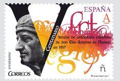 Lebrija despertaba hoy con esta fantástica noticia: Correos ha emitido un sello dedicado a la conmemoración del Quinto Centenario de la publicación de la Ortografía de Elio Antonio de Nebrija.