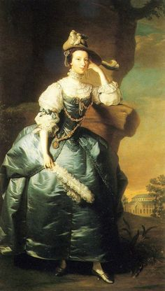 """1757 Mary Panton, 3rd Duchess Ancaster by Thomas Hudson-Mary, Duchess of Ancaster -As a result of her marriage, Mary Panton was styled as Duchess of Ancaster and Kesteven on 27 November 1750. She held the office of Mistress of the Robes to Queen Charlotte between 1761 and 1793. Walpole describes her as a """"natural daughter of Panton, a disreputable horse jockey,"""" and it turns out that she was illegitimate."""
