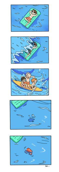 Oikawa-san on the beach
