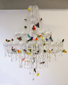 bird chandelier by sebastian errazuriz