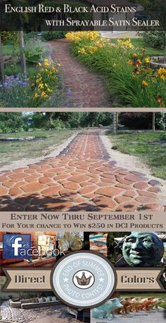 Create your own backyard masterpiece with Direct Colors Acid Stains and Sealers. Enter a project you're proud of in our End of Summer Photo Contest at  https://www.directcolors.com/end-of-summer-photo-contest/.