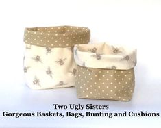 Make Up Storage Basket Bathroom Cosmetic Bag Bee Print Fabric Plant Pot Key Holder Gift for Manchester Student Bumblebee Two Ugly Sisters Family Christmas Gifts, Gifts For Family, Grey Tote Bags, Fabric Storage Baskets, Owl Bags, Make Up Storage, Grey Room, Coffee Colour, Bee Theme
