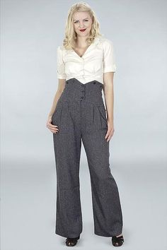 Miss fancy pants slacks, Salt/pepper