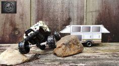 Custom built 1/64 scale Popup Camper and Jeep Rock Crawler by bradleychoppedinc. Follow me on Facebook! www.facebook.com/bradleychoppedinc
