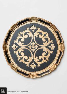 Florentine Charger - Black & Gold // Casa de Perrin