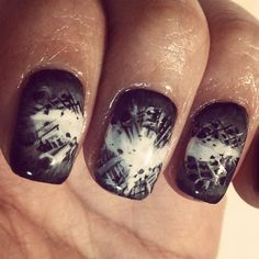 amazing batman nails... These are awesome. (: