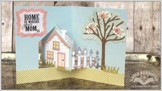 How to use #902 House Pivot Card Die by Karen Burniston for Elizabeth Craft Designs. BLOG POST: http://ecraftdesignsblog.com/2014/04/karen-burniston-pop-it-ups-designer-challenge-mamas-babies/
