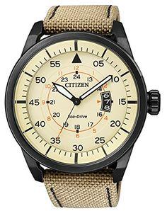Solar-Reloj-de-hombre-Citizen-Eco-Drive-elegante-reloj-de-hombre-reloj-de-pulsera-AW1365-19P