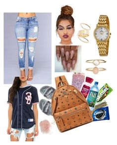 """Jersey contest"" by u-luv-ashley ❤ liked on Polyvore featuring Classy Brand, Puma, SEN, MCM, Thom Browne, Bulova, Avenue, Lime Crime, BP. and Accessorize"