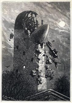 Emile Bayard, Autour de la lune (Jules Verne), c. 1870