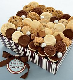 this would make me happy!! (sympathy dessert tray!)