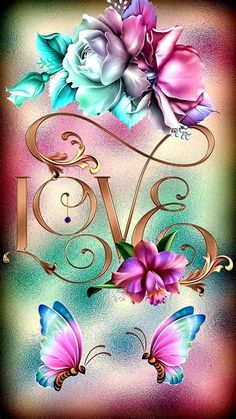Blue Butterfly Wallpaper, Rose Flower Wallpaper, Butterfly Background, Flower Background Wallpaper, Cute Wallpaper For Phone, Butterfly Flowers, Love Wallpaper, Cellphone Wallpaper, Colorful Wallpaper