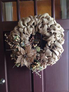 Christmas burlap wreath!