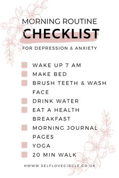 Creating a self care morning routine is essential to having a happy, productive day. Use my self care moring tips to create your own routine. Morning Routine School, Morning Routine Checklist, Healthy Morning Routine, Routine Planner, Morning Beauty Routine, Night Routine, Morning Routine Printable, Healthy Routines, Evening Routine