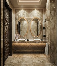 neo classic bathroom on Behance Washroom Design, Vanity Design, Bathroom Design Luxury, Luxury Interior Design, Restaurant Bad, Restaurant Bathroom, Boho Bathroom, Small Bathroom, Master Bathroom