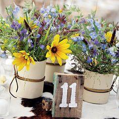 just picked floral arrangements