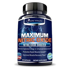Core Vitality Nitric Oxide Supplement  Nitric Oxide Booster to Build Muscle  Strength Faster Bigger Muscle Pumps Workout Longer and Harder Increase Stamina and Recovery 100 Guaranteed *** Read more  at the image link.