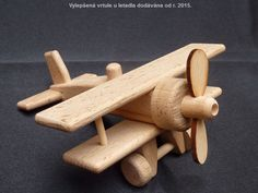 Kleine Holzflugzeuge Doppeldecker Spielzeug